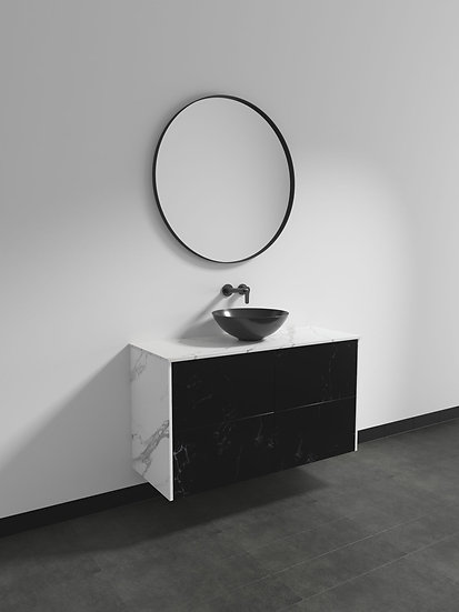 Marcella Custom Range 1200mm Wall Hung Vanity Single Basin with Flat Stone Top