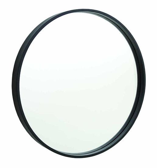 Black Framed Round Mirror 600mm
