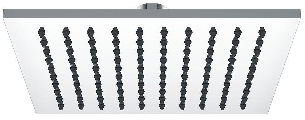 Brass Chrome Square Shower Head 200mm