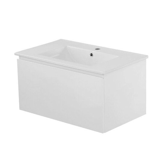Messina Wall Hung Vanity 750mm White Cabinet Only