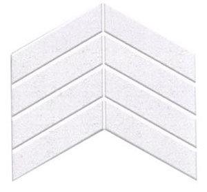 Chevron Matt White Mosaic 180x52