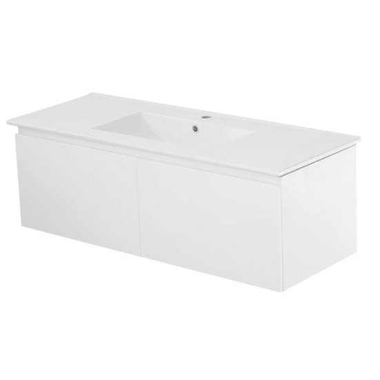 Messina Wall Hung Vanity 1200mm White Cabinet Only Single Bowl