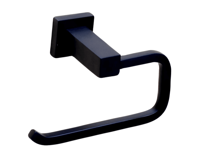Black Square Toilet Roll Holder