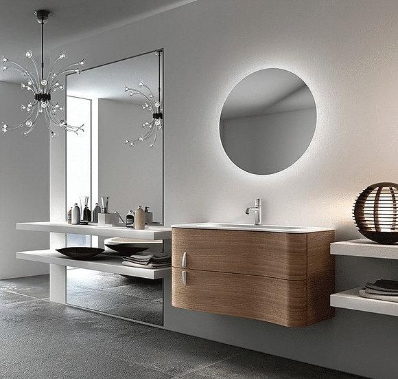 RS Round Backlit LED Mirror (Demister Inc) 900mm Cool White