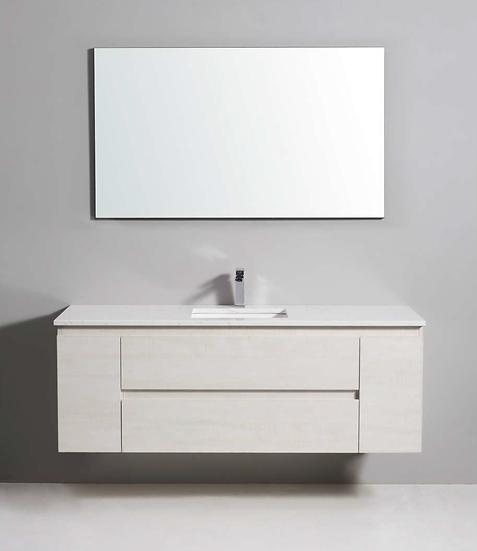 Ivory Wall Hung Vanity 1500mm Single Basin
