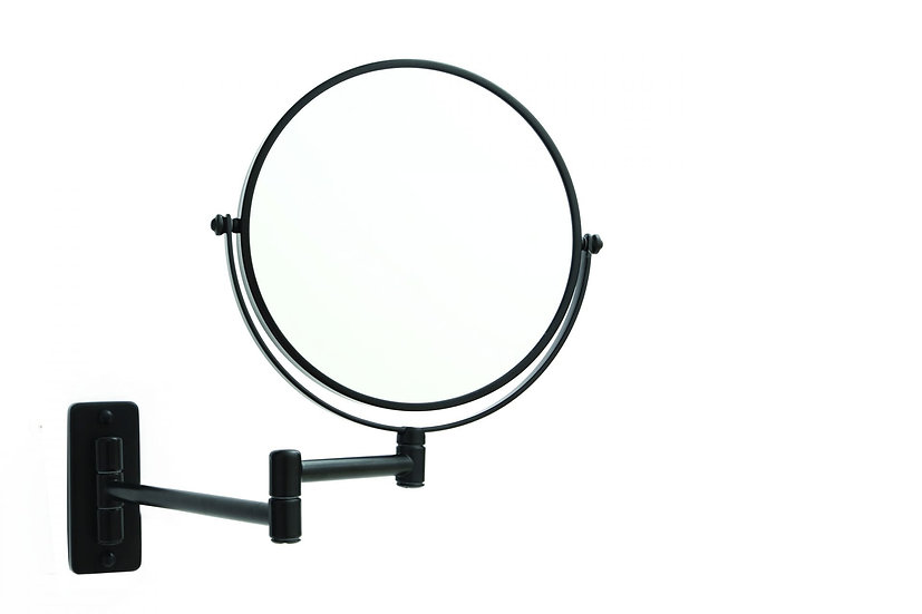 1 & 5x Magnifying Shaving Mirror 200mm Matt Black