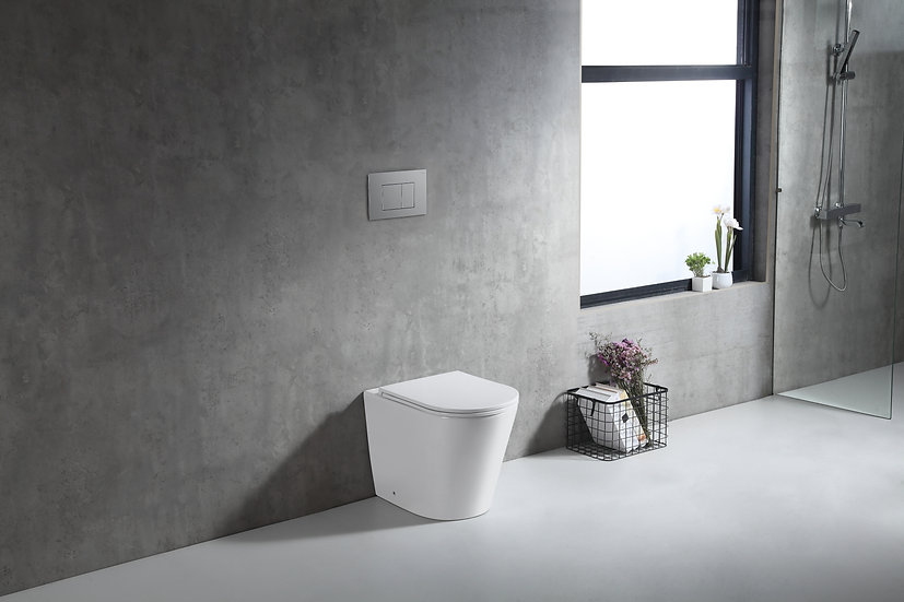 Zumi In Wall Faced Floor Pan with ABS Chrome Flush Plate
