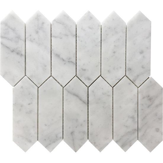 Italian Carrara Picket Honed 48x148