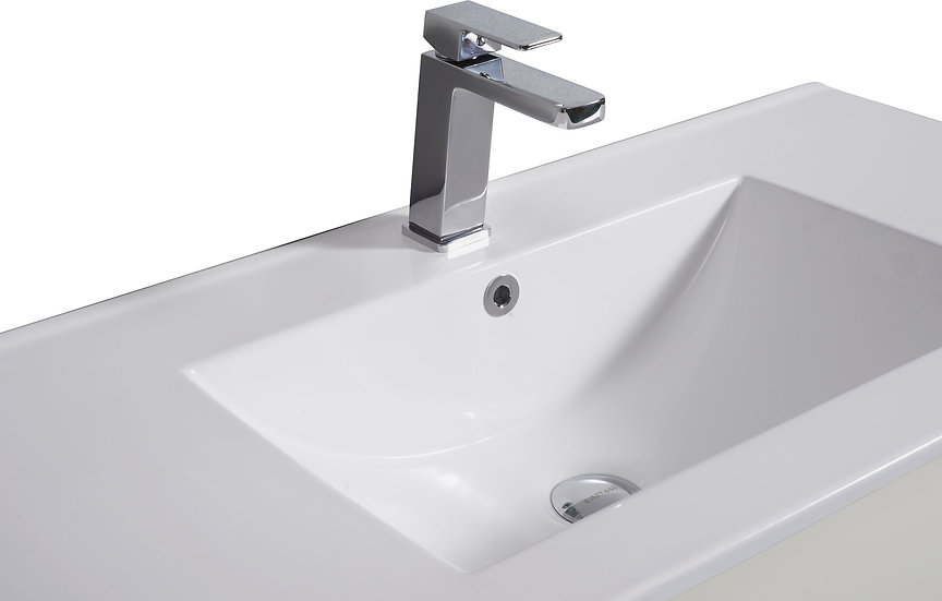 Ceramic Top with Overflow (Waste & Basin Mixer Sold Seperately)