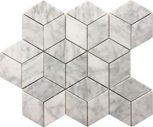 Cube Honed Carrara 78x78x8- 285x265