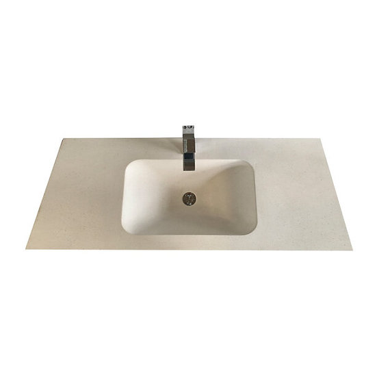 Solid Surface Top Moulded Bowl 1200mm in Snow