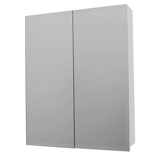 Florence 600x750mm Mirror Cabinet White