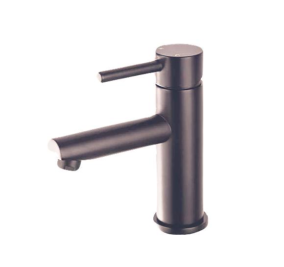 Gunmetal Round Basin Mixer