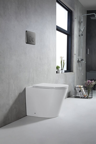 Zumi In Wall Faced Floor Pan with Stainless Steel Brushed GM Flush Plate