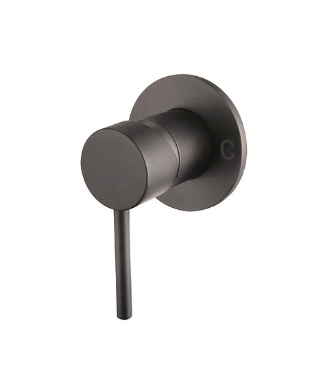 Gunmetal Round Shower Mixer