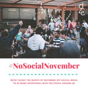 #NoSocialNovember