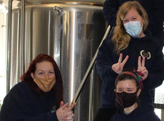 Having fun on Ladies Brew Day