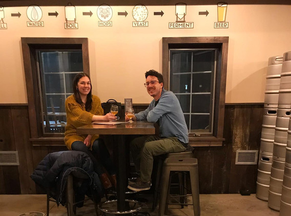 Take our tour and enjoy our taproom seating