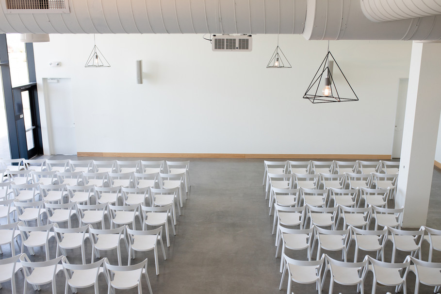 Ceremony for 130 in Smaller Interior Space