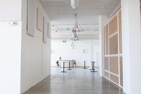 Walkway into smaller interior space