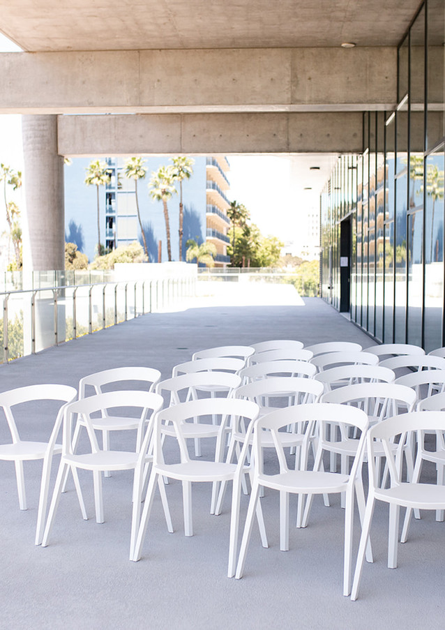 Tiered seating outside