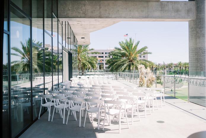 ceremony on outdoor terrace