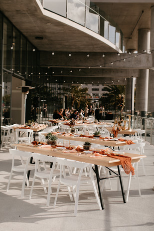 outdoor terrace reception for 40 guests