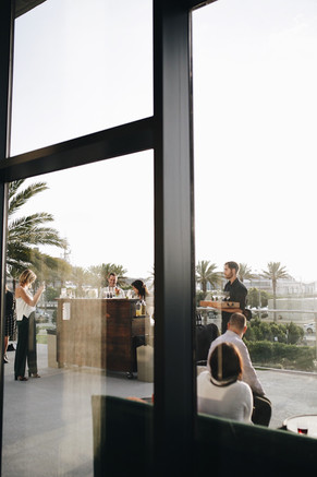 Floor to Ceiling Windows Looking Out onto the Terrace