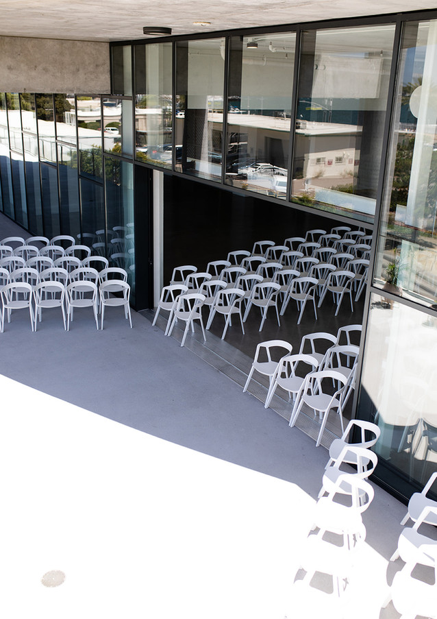 Seating inside larger interior space and