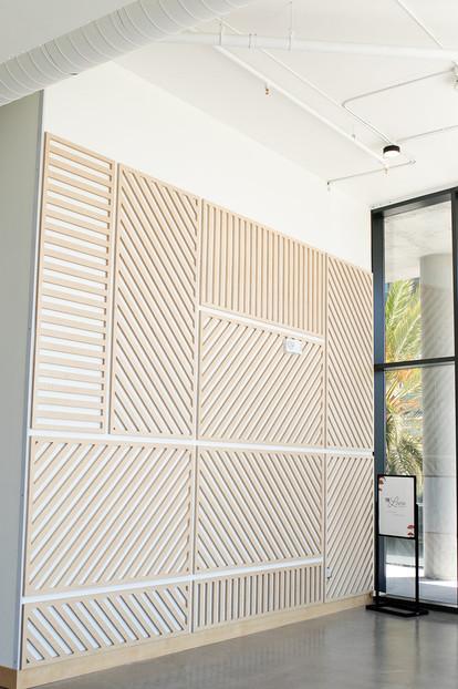 Custom Wood Design Wall