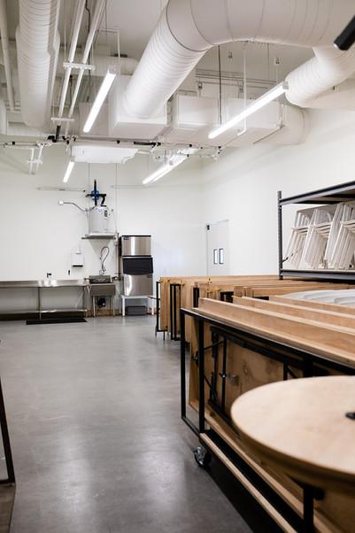 800' sqft prep kitchen + storage
