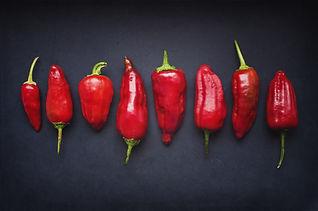 Las vainas de chile rojo