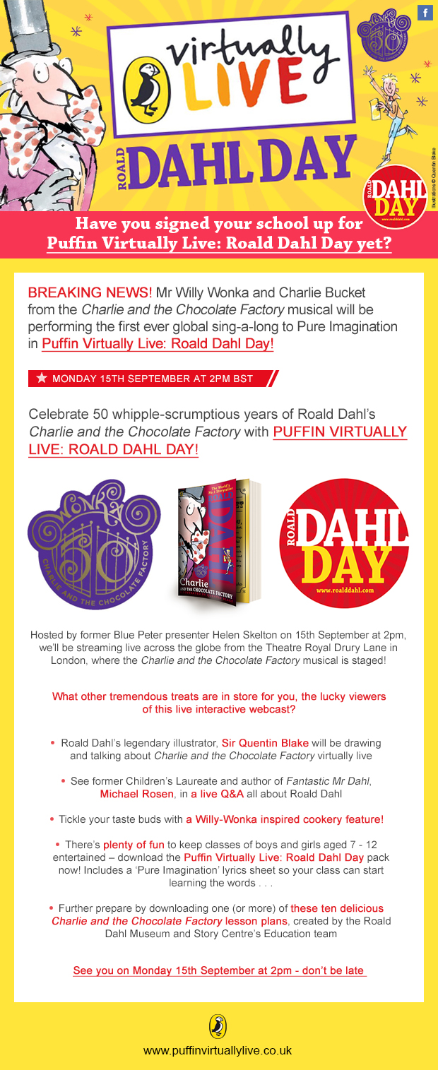 Roald Dahl Day Teachers Newsletter