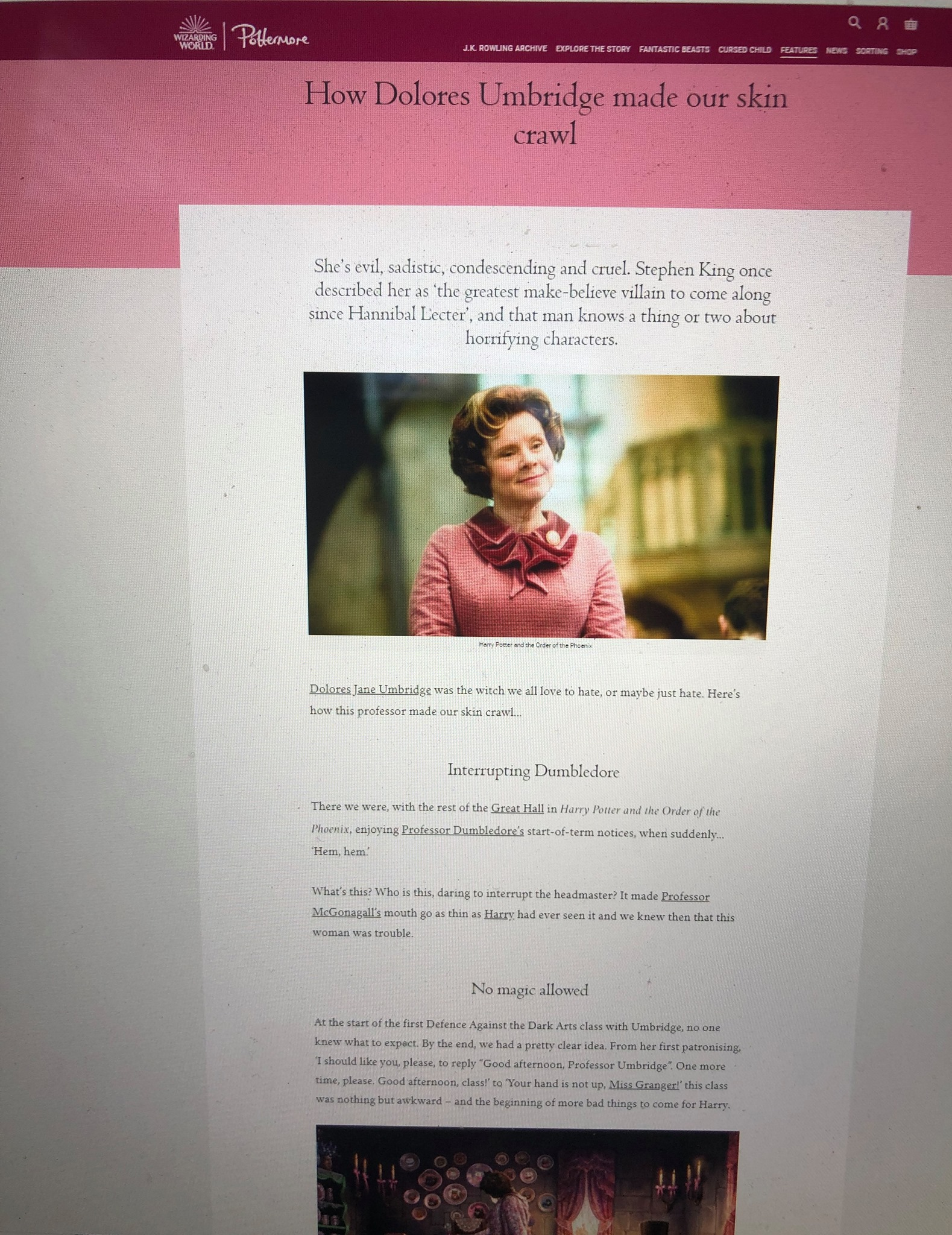 Dolores Umbridge feature