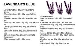 Lavendar's Blue