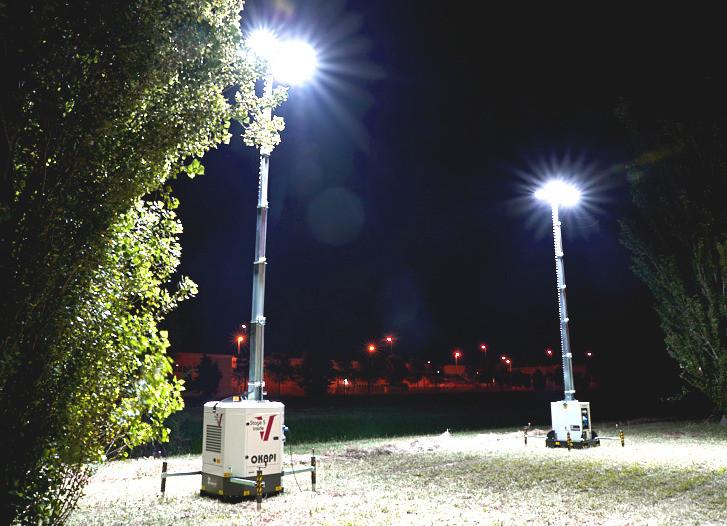 Torre Okapi Illuminazione di notte