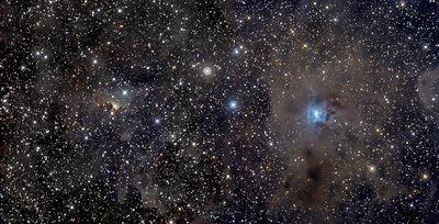 IRIS nebula mosaico