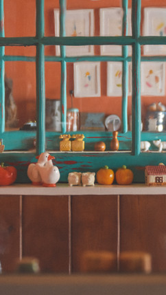 booths, salt & pepper shakers and vintage windows.