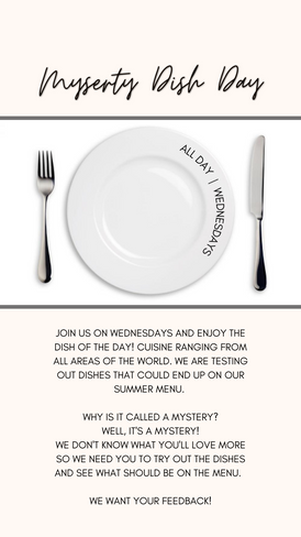 Mystery Dish | Wednesday | All Day