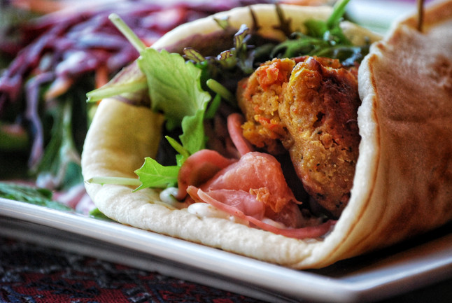 Curry Chickpea Falafel