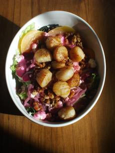 Scallop Beet Salad