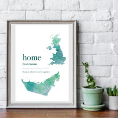 Home country print