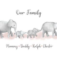 Our family - elephants