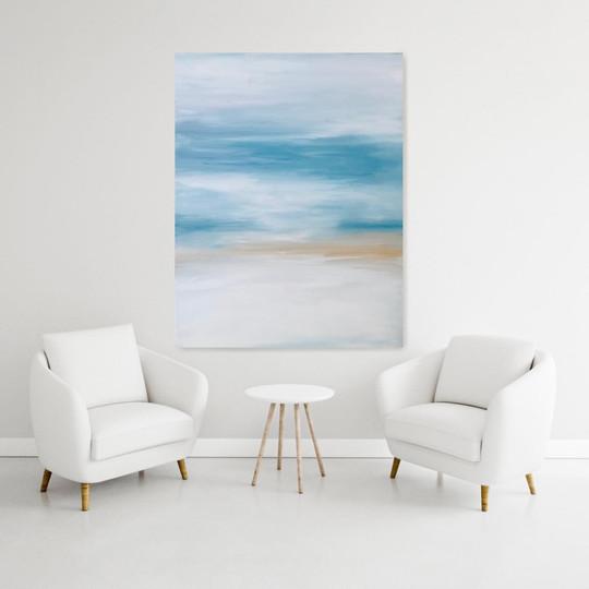 Abstract seascape. Acrylic on canvas_