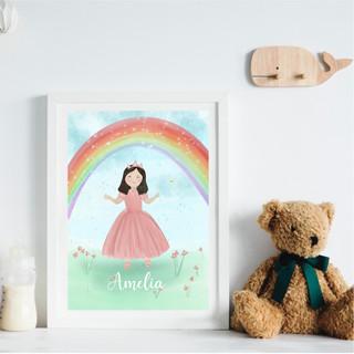 Personalised princess print