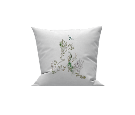 Green Feathers Cushion