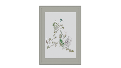 Green Feathers Frame