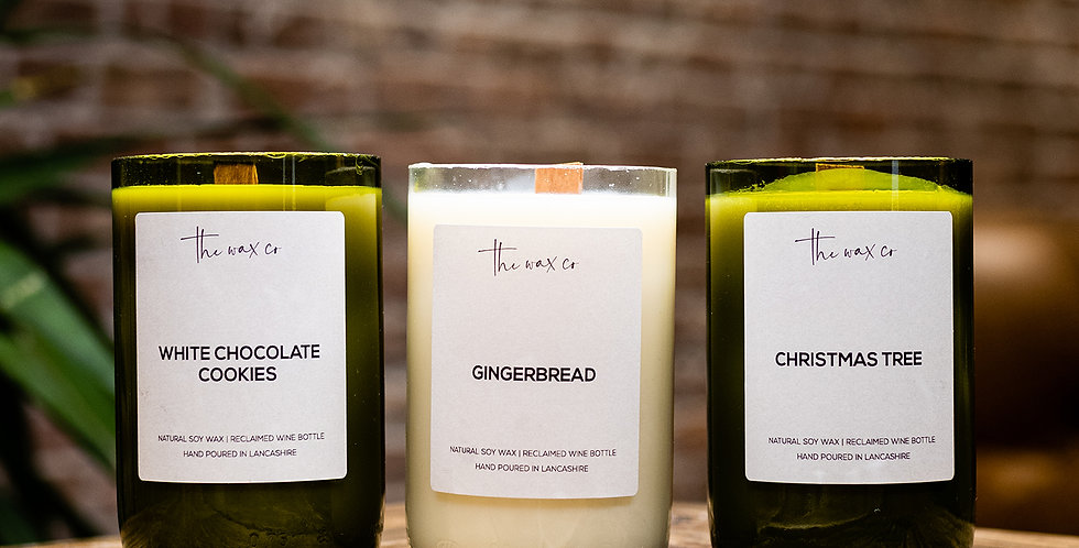 Trio of Wine Candles