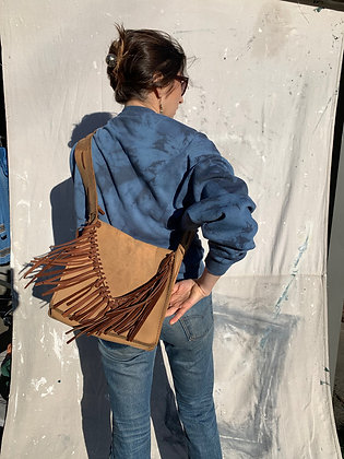 Leather Fringe Shoulder Bag