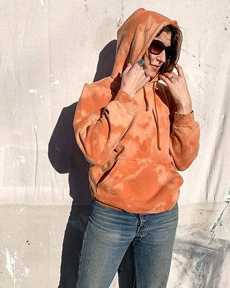 Luster-Dyed Orange Hoodie